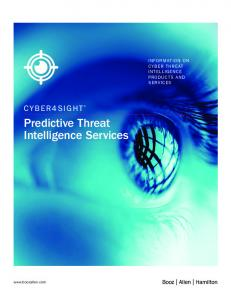 Predictive Threat Intelligence Services