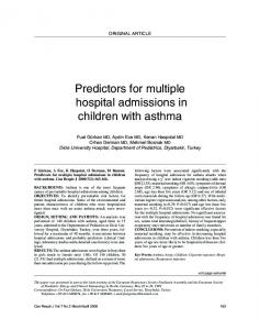 Predictors for multiple hospital admissions in children with asthma