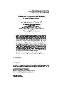 Predictors of Courtship Stalking Behaviors in Male College Students