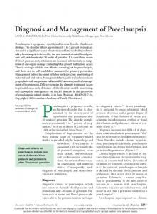 Preeclampsia is a pregnancy-specific,