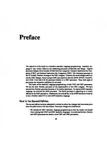 Preface. New in the Second Edition