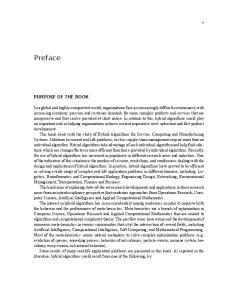 Preface PURPOSE OF THE BOOK