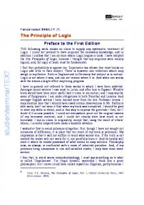 Preface to the First Edition