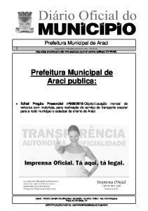 Prefeitura Municipal de Araci publica: