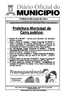 Prefeitura Municipal de Cairu publica: