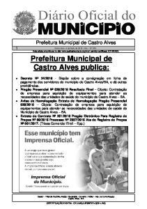 Prefeitura Municipal de Castro Alves publica: