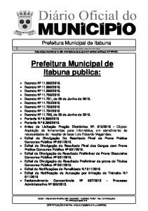 Prefeitura Municipal de Itabuna publica: