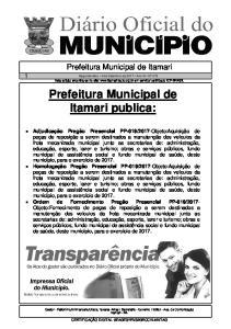 Prefeitura Municipal de Itamari publica: