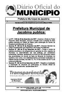 Prefeitura Municipal de Jacobina publica: