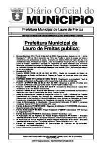 Prefeitura Municipal de Lauro de Freitas publica: