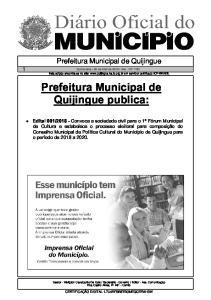 Prefeitura Municipal de Quijingue publica: