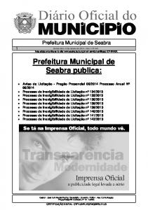 Prefeitura Municipal de Seabra publica: