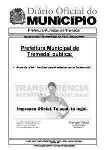 Prefeitura Municipal de Tremedal publica: