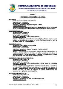 PREFEITURA MUNICIPAL DE VESPASIANO