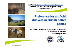 Preference for artificial drinkers in British native ponies