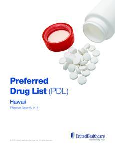 Preferred Drug List (PDL)