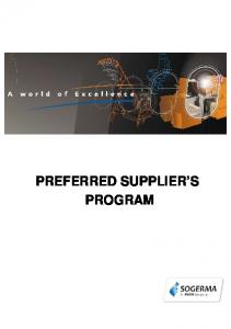 PREFERRED SUPPLIER S PROGRAM