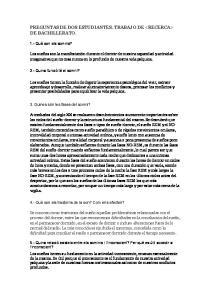 PREGUNTAS DE DOS ESTUDIANTES. TRABAJO DE  DE BACHILLERATO