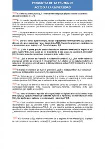 PREGUNTAS DE LA PRUEBA DE ACCESO A LA UNIVERSIDAD