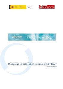 Preguntas frecuentes en la plataforma RECyT