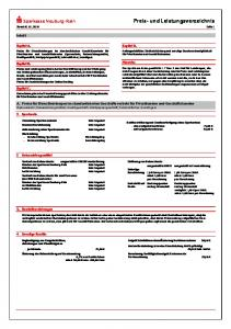 Preis- und Leistungsverzeichnis Stand: Seite 1