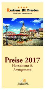 Preise Hotelzimmer & Arrangements
