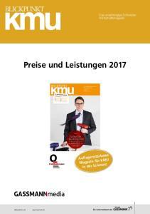 Preise und Leistungen 2017