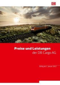 Preise und Leistungen der DB Cargo AG