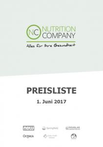 PREISLISTE 1. Juni 2017