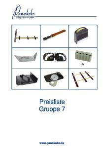 Preisliste Gruppe 7