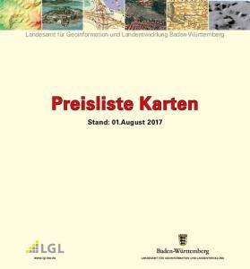 Preisliste Karten Stand: 01.August 2017