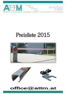 Preisliste Preisliste 2013
