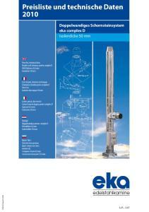 Preisliste und technische Daten 2010