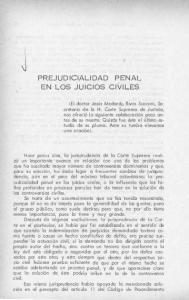 PREJUDICIALIDAD ' EN LOS JUICIOS CIVILES