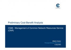 Preliminary Cost-Benefit Analysis
