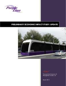 PRELIMINARY ECONOMIC IMPACT STUDY: UPDATE