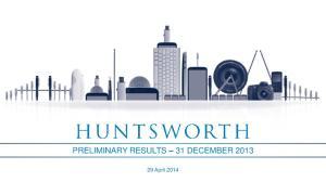 PRELIMINARY RESULTS 31 DECEMBER 2013