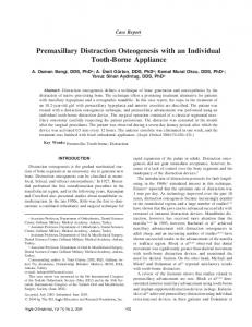 Premaxillary Distraction Osteogenesis with an Individual Tooth-Borne Appliance