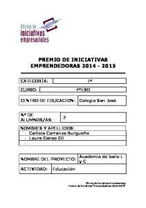 PREMIO DE INICIATIVAS EMPRENDEDORAS