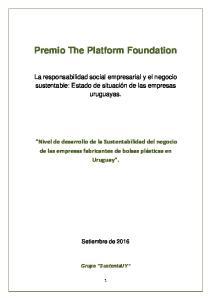 Premio The Platform Foundation
