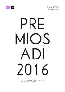 Premios ADI 2016 ADI Awards pre mios adi 2016