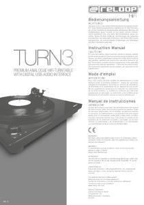 PREMIUM ANALOGUE HIFI-TURNTABLE WITH DIGITAL USB-AUDIO INTERFACE