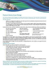 Premium Industry Career Package