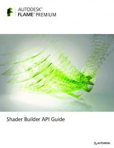 PREMIUM. Shader Builder API Guide