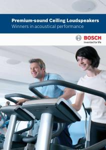 Premium-sound Ceiling Loudspeakers Winners in acoustical performance
