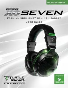 PREMIUM XBOX ONE GAMING HEADSET USER GUIDE