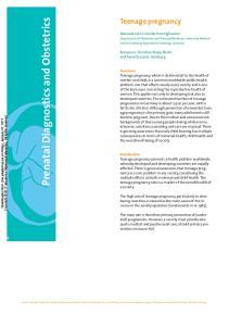 Prenatal Diagnostics and Obstetrics