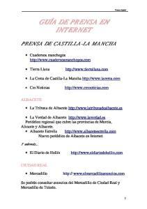 PRENSA DE CASTILLA-LA MANCHA