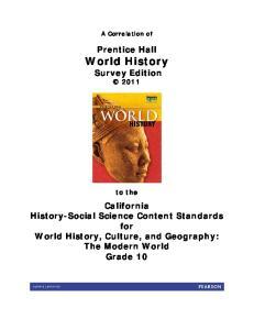 Prentice Hall World History Survey Edition 2011