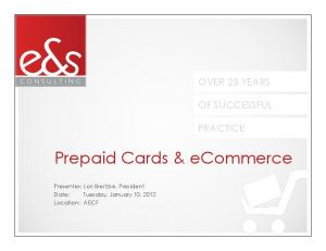 Prepaid Cards & ecommerce